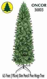6.5ft Eco-Friendly Oncor Slim Pencil Christmas Tree