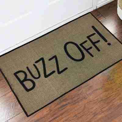 Buzz Off Grinch Welcome Doormat, 24 inch x 36 Inch