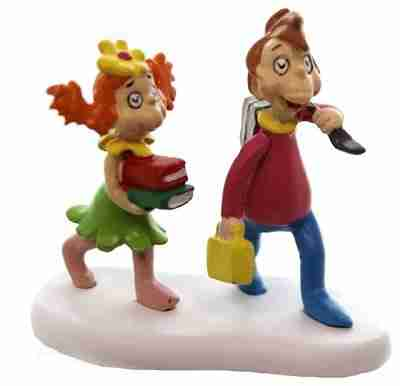 Department 56 Accessory Whos Going To School Resin the Grinch Dr. Seuss