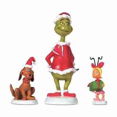 Department 56 Grinch Max and Cindy-Lou Who Village Accessory, 2.75 Inch