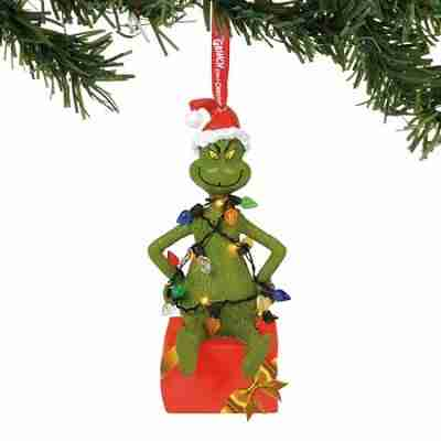Department 56 The Grinch 6000308 Grinch In Lit Lights Ornament