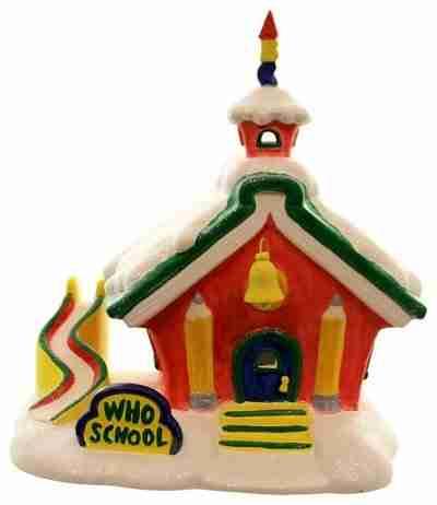 Dept 56 Buildings Who School Porcelain the Grinch Dr. Seuss Village
