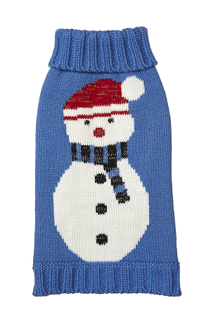 Fab Dog Holiday Snowman Knit Turtleneck Dog Sweater