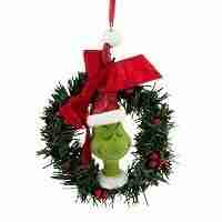 Grinch Sisal Wreath Ornament, 4.5-Inch