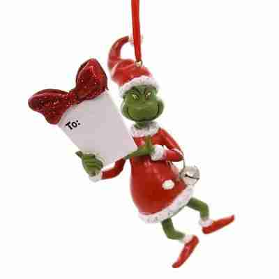 Holiday Ornaments Grinch Personalizable Ornament Department 56