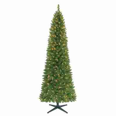 Holiday Time 7ft Pre-Lit Brinkley Pine Artificial Christmas Tree with 300 Clear Lights - Green