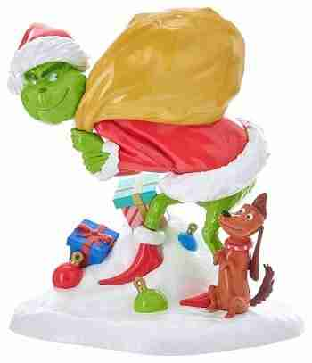 Kurt Adler 5 Inch Grinch With Max Tablepiece
