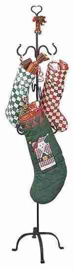Stocking Holder Black Iron Christmas Hanger 60 Inch