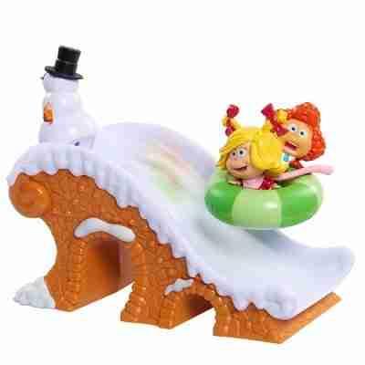 The Grinch 2-Pack Figure Playset - Snowtube Fun