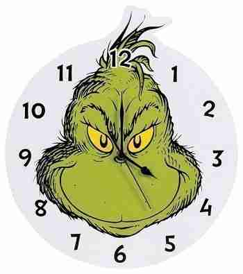 Trend-Lab Home Decor Dr. Seuss The Grinch Kids Wall Clock