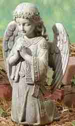 12.25 inch Joseph's Studio Kneeling Celtic Irish Angel Outdoor Garden Statue