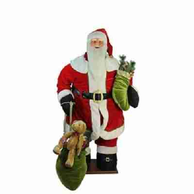 5 ft life size deluxe animated musical inflatable santa claus christmas figure