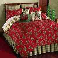 Holly Red King Quilt by April Cornel