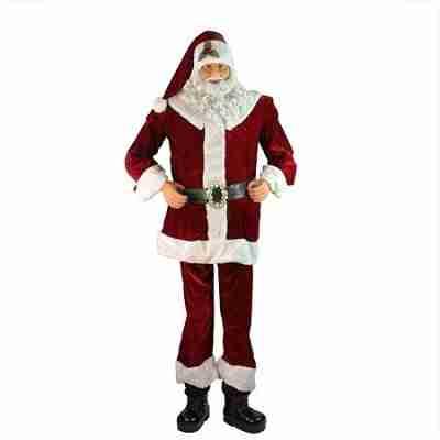 Huge 6 Foot Life-Size Decorative Plush Christmas Santa Claus Figure
