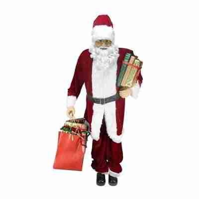 Huge Decorative Plush Christmas Santa Claus Figure