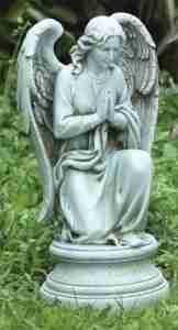 Joseph Studio Tall Praying Angel Kneeling on Pedestal Statue, 17.75-Inch