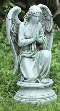 Joseph Studio Tall Praying Angel Kneeling on Pedestal Statue, 17.75-Inch