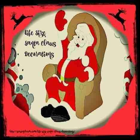 Life Size Santa Claus Decorations - Life Size Indoor Santa