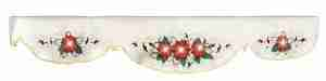Lighted Christmas Poinsettia Mantel Scarf