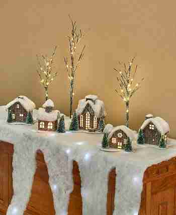 Lighted Mantel Scarf, Houses or Accessories