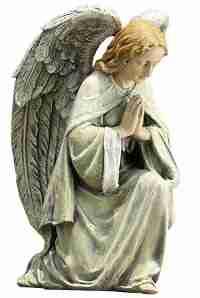 Napco Kneeling Angel Garden Statue, 11.75 Inch Tall