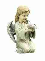 Napco Kneeling Angel with Dove Garden Statue, 12-Inch Tall