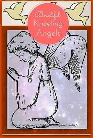 Outdoor Kneeling Angel Statue Ideas Holiday Décor Season Charm