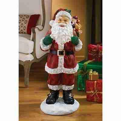Santa Claus Holiday Statue