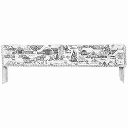 Sleigh Ride Winter Scene Mantel Mantle Scarf Heritage Lace