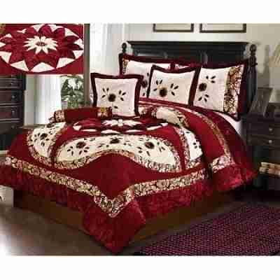 North Star Comforter Set Red