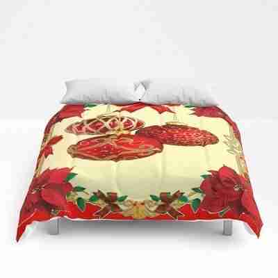red-christmas-poinsettias-flower-christmas-ornament-comforters