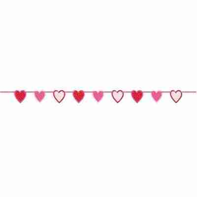 6.5 ft Paper Cut Out Valentine Heart Garland