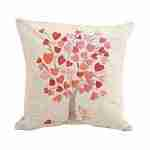 Cotton Linen Square Pillowcase Love Heart Leaf Tree