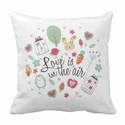 Love In The Air Throw Cushion