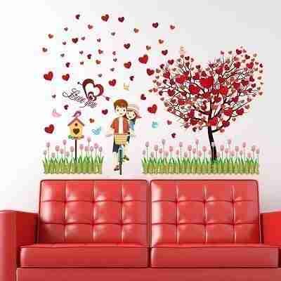 Lovers Heart Tree Removable Vinyl Wall Sticker