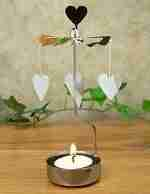 Rotating Heart Tea Light Candle Holder