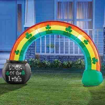 Inflatable St. Patrick's Rainbow Yard Decoration