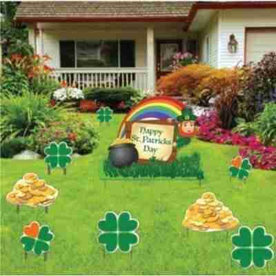 Leprechaun, Shamrocks and Gold (Set of 9 with 20 Short Stakes)