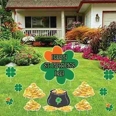 Shamrocks and Gold (set of 17 with 25 short stakes)