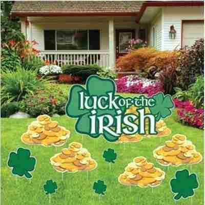 St. Patrick's Day - Yard Decoration - Luck o' the Irish (set of 13 with 23 short stakes)