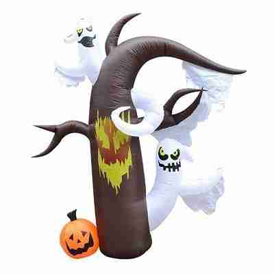 Halloween Inflatable Haunted Forest with Lurking Ghosts - 7.5 Foot