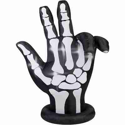 Inflatable 7 ft X 6 ft Animated Skeleton Hand Halloween Decoration