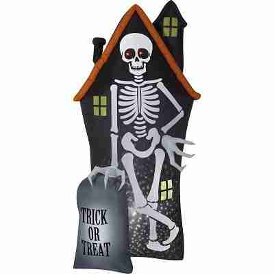 Inflatable Skeleton and Haunted House-Starspinner