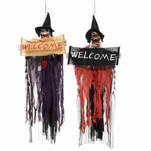 Halloween Party Home Decoration Voice Skeleton Horrid Scare Scene Props