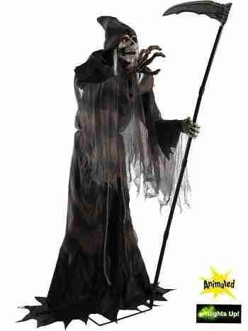 Lunging Animated Reaper Halloween Prop