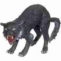 Roaring Black Cat 19 inch Long 13 inch Tall Decoration Prop