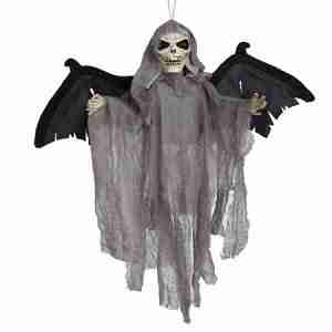 Sound Control Creepy Scary Animated Skeleton Bat Ghost