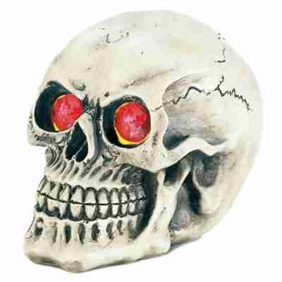 Spooky Skull with Color-Changing Light-Up Eyes