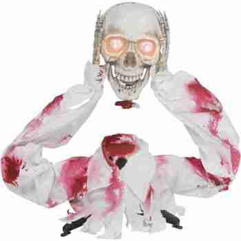2.2' Groundbreaker Head Off Skeleton Halloween Decoration