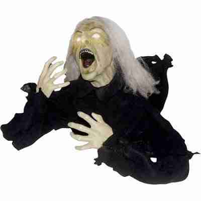 2.2 ft Groundbreaker Head Turning Witch Halloween Decoration